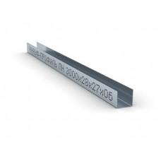 KNAUF Профиль направляющий (ПН)  потолочный 28x27x0,6 мм (Длина: 3м/4м). Цена за 1 м.п.