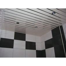 Комплект потолка для ванной комнаты, белый жемчуг+хром (1,7х1,7)