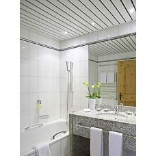Комплект потолка для туалета, белый глянец с раскладкой белый глянец (Размер: 1,35х0,9)