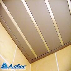 Комплект потолка для туалета, металлик+хром (Размер: 1,35х0,9)
