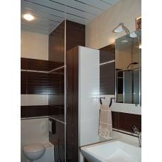 Комплект потолка для туалета, белый жемчуг+хром (Размер: 1,35х0,9)