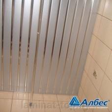 Комплект потолка для ванной комнаты, металлик+хром (1,7х1,7)