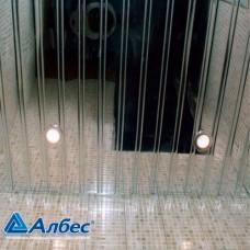 Комплект потолка для ванной комнаты, супер-хром с раскладкой супер-хром (1,7х1,7)