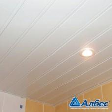 Комплект потолка для ванной комнаты, белый глянец с раскладкой белый глянец (1,7х1,7)