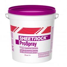 Готовая полимерная шпатлевка для механизированного нанесения и ошкуривания ProSpray, 15 л.