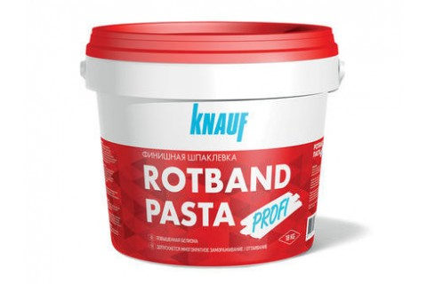 Готовая пастообразная финишная шпаклевка на виниловой основе KNAUF-РОТБАНД ПАСТА ПРОФИ, 5 кг.
